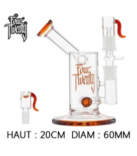 BUBBLER EN VERRE PERCOLATEUR FOURTWENTY SAXO 20CM